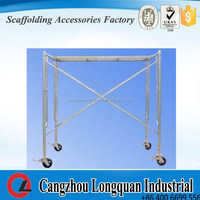 Durable Q235 Steel tubular Scaffolding Frame/Door Frame scaffolding in Construction Industrial