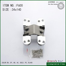 Cross concealed hinge adjustable locking hinge F600