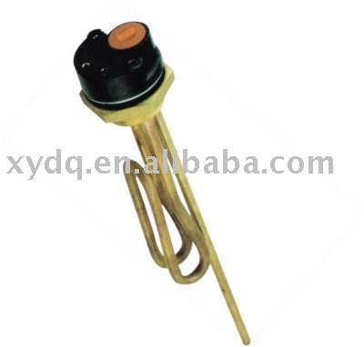 Heating element for water heater, copper heater