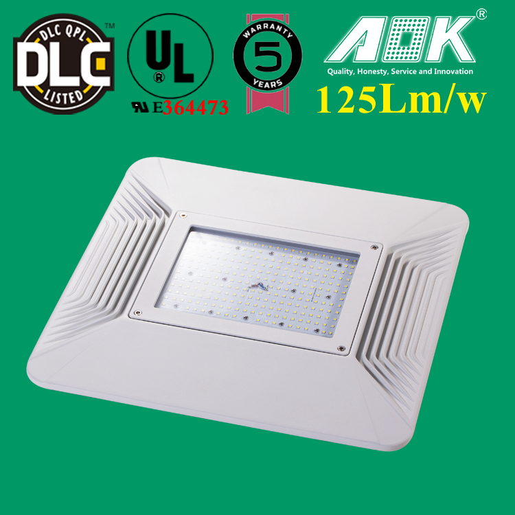 UL DLC IP66 110LM/W 100 watt led canopy light fixtures replace 200W gas station lighting
