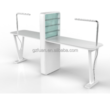 wholesale manicure table salon furniture double nail bar table