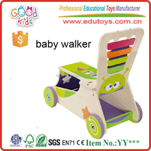 EN71 Standard Big Activity Baby Walker Toy, High Quality Wooden Baby Walker