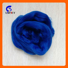 2.5D*102mm regenerated dope dyed polyester tops