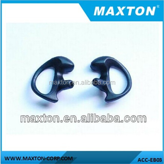 Clear/fresh/black color Earbud silicone tips for two way radio