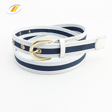 Business White Pu Leather Jeans Belt For Woman