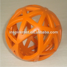 Rubber Pet Treat Ball Soft Dog Toy