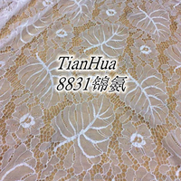 hot sale white heavy nylon material lace fabric