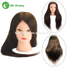 best sale real human hair mannequin head