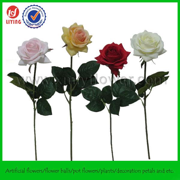 40cm single rose petal artificial flower for wedding for Individual rose petals