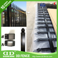 ISO14001 certified tubular picket fencing for flower beds from China