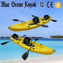 2+1 Tandem Fishing Kayak with seats and paddles ,3 Paddlers (Max) and 3.1 - 4m Length (m) cheap plastic kayak