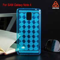 Dual Color Deluxe Wallet Leather Flip TPU Case Stand for Samsung galaxy Note 4