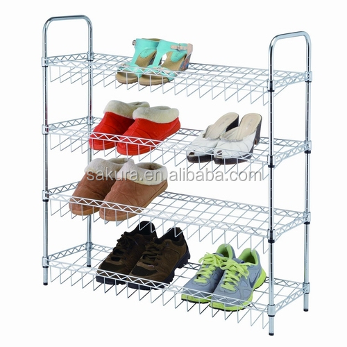4TIER METAL WIRE WITH STANDER SHOES RACK/4 TIER SHOES SHELF AF-137025A4