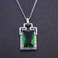 Top Quality Fahion Green Spinel Charm Pendant Woman 925 Sterling Silver Jewelry for Gift