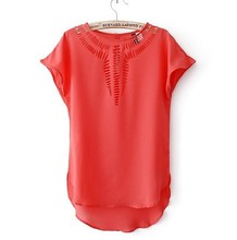 New Summer Womens Chiffon Loose Casual Blouse T-Shirt Designer Blouses Patterns