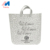 eco customized reusable grey felt tote shopping bags with logo