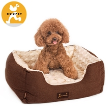 Plush Animal Shaped Pet Bed Faux Leather Outdoor Dog Bed/House