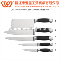 Rubber Sprayed Handle Bone Cutting Kitchen Knife Set