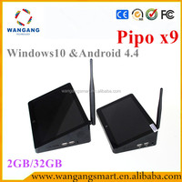 Wholesale android smart tv set top box Pipo x9 MINI PC windows10 android 4.4 dual OS mini pc android