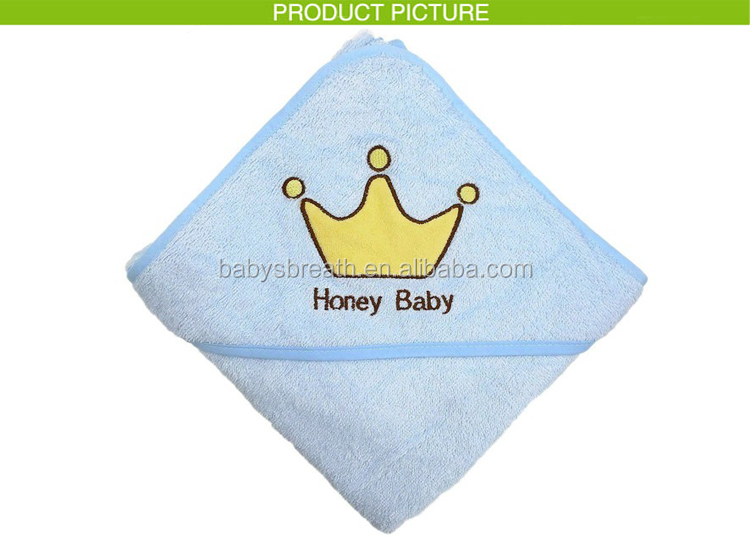 BHT01 Good Breathable Organic Bamboo Baby Hooded Towel