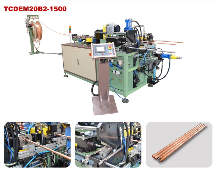 CNC pipe integrated machine (cutting, end forming , punching)