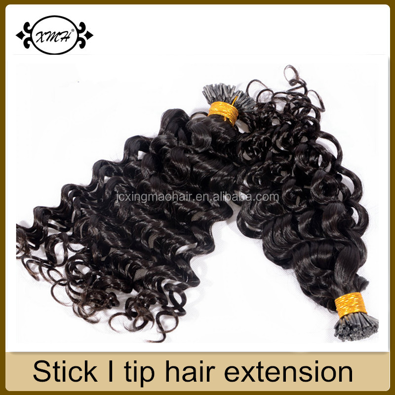 Best quality deep wave i tip hair extensions for cheap top hair vendors