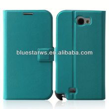 Hight Quality PU Leather For Samsung N7100 Cell Phone Cover genuine leather case