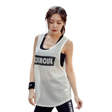 Custom Mesh Yoga <strong>Sports</strong> Wholesale Ladies Fitness Underwaist Running Gym Tank Tops For Women