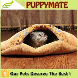 Adorable Indoor pet sleeping bag beds sleeping bag dog and cat bed