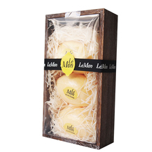 2018 Luxury Wooden box Set 3 Lemon shape bath fizzer gift set for shower