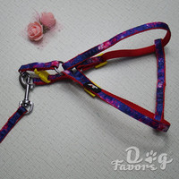 Galaxy Style Nylon Leash and Harnesses Combonation in 10mm / 15mm, shenzhen city pet supplies manufacture