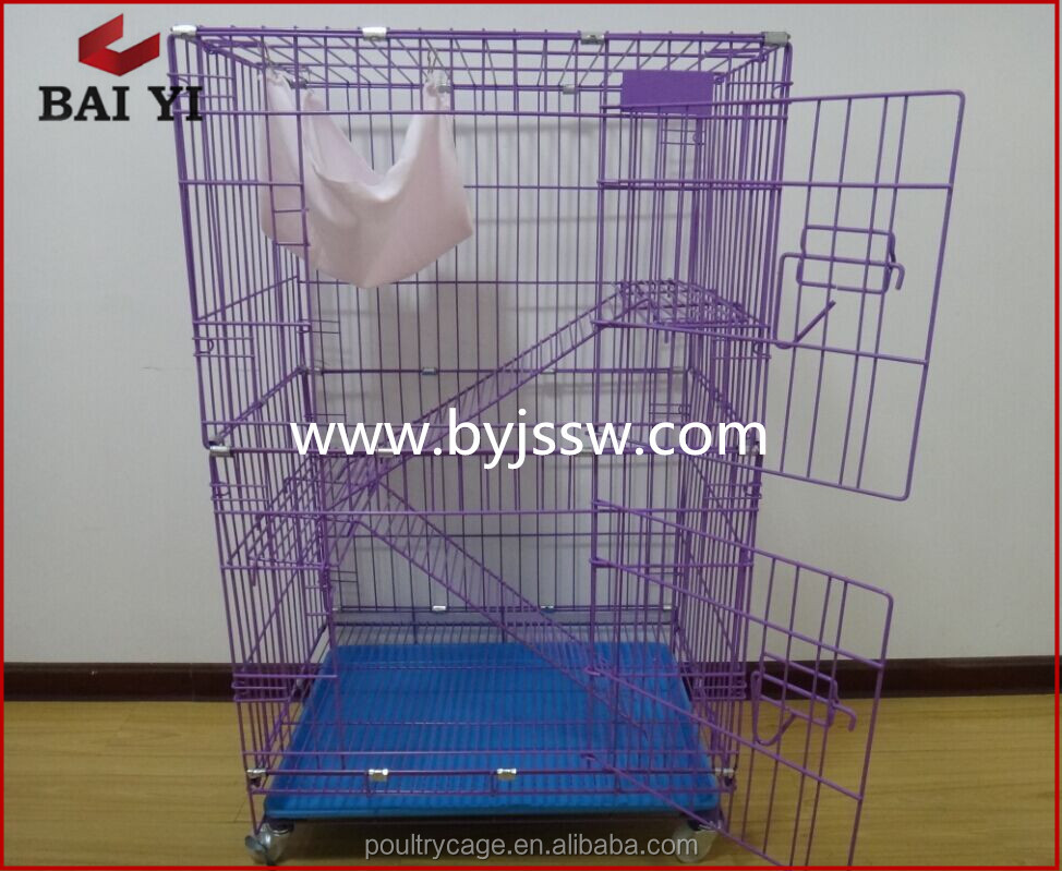 Colorful Foldable Stainless Steel Cat Cage And Cat Cage Display
