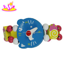 most popular wooden kids watch toy, best fashion wooden kids watch toy W08K019