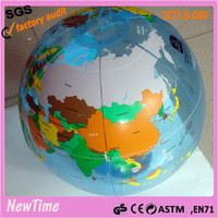 inflatable earth globe beach ball