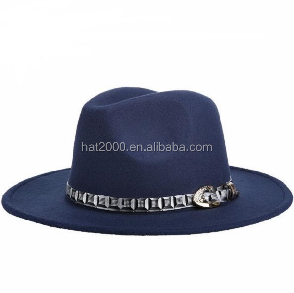 9d83604d7d4 2017 Autumn Brand New wool Boater Top Hat For Women s Felt Wide Brim Fedora  Hat