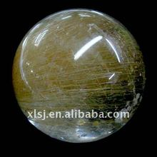 Natural Rock Luxurious Copper Rutilated Quartz Crystal Ball