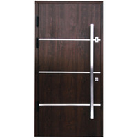 Italian steel wooden door design armored door security door handle and lock