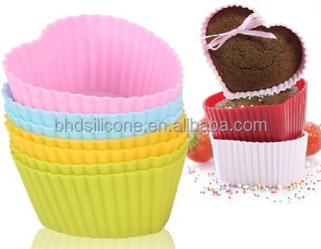 Reusable Silicone Baking Cups for Halloween Party,Square/Round Cupcake Liners Muffin Cups Mold