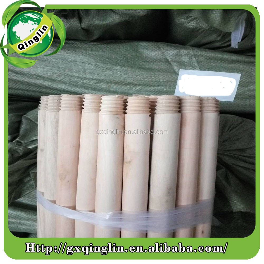 high quality wooden broom handle with pvc coated/wooden broom handles with plastic coated