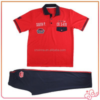 2016 hot selling new design wholesale men's polo shirts sets
