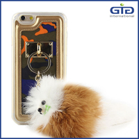 [GGIT] TPU + PU Leather with Cute Pendant for iPhone 6 Phone Cover