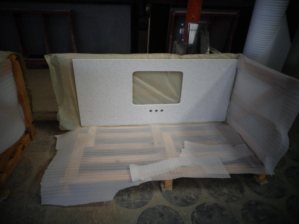 White Sparkle Quartz Countertop View White Sparkle Quartz