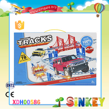 Plastic 78 pcs racing railway toys track assembly toy for kids child and boys XDH00586