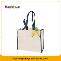 Fashion style Organic cotton bag Cheaper Recyclable cotton Shopping bag