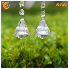 crystal clear hanging diamond glass ball chandelier parts for home decoration Fengshui