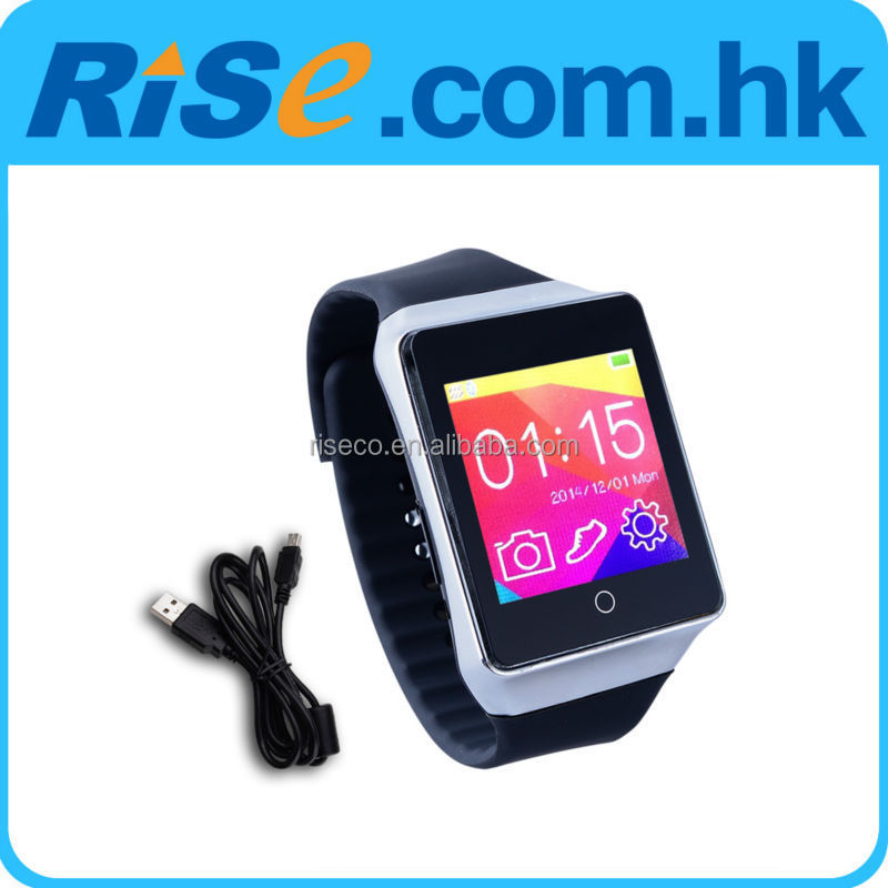 W2 Bluetooth Wrist Watch Phone Mate Music Player Pedometer Anti Lost IOS Android