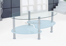Wholesale modern design glass top coffee table fish tank JY-48