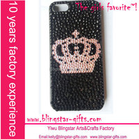 pink crown crystal bling phone covers