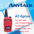 New coming AT-5plus colorful PMR transceiver
