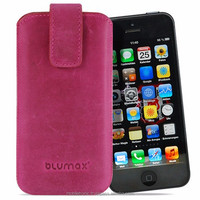Geniune Leather case for iPhone 5 / iPhone 5s Slide Antic Pink Cow Leather